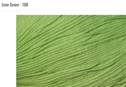 Bamboo Pop Yarn 108 Lime Green