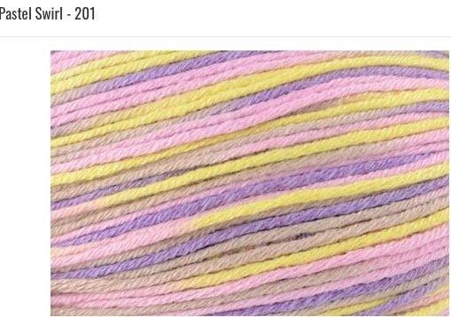 Bamboo Pop Yarn 201 Pastel Swirl
