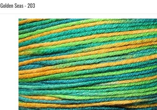 Bamboo Pop Yarn 203 Golden Seas