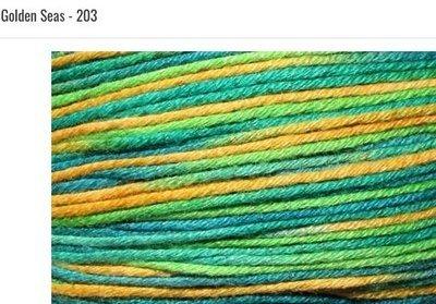 Bamboo Pop Yarn 203 Golden Seas