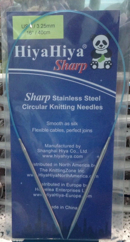 """HiyaHiya SHARP Steel Circular Needles 16"""" 3 US/3.25mm"""