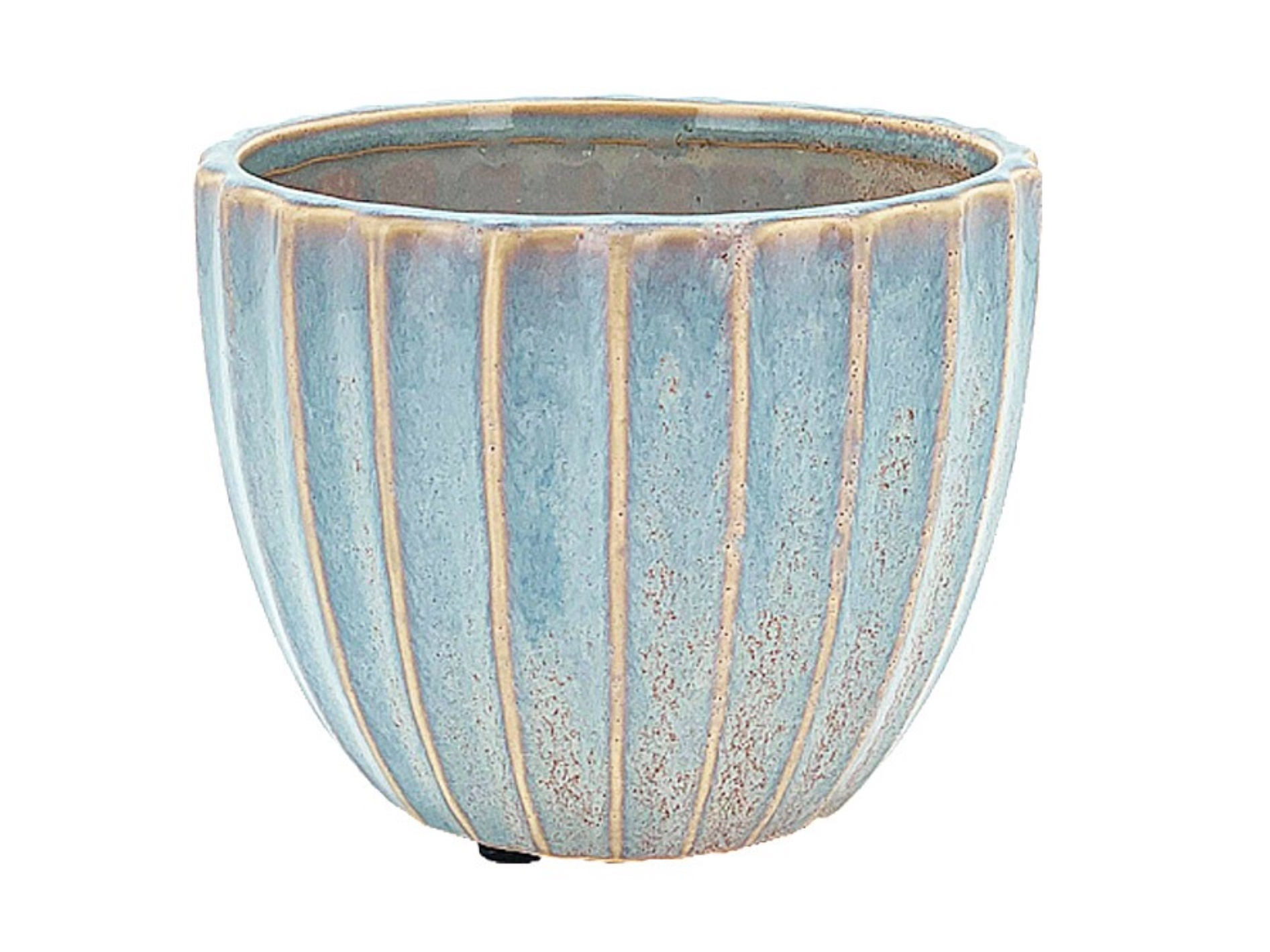 Translucent Ribbed Pot 15cm CP100712L