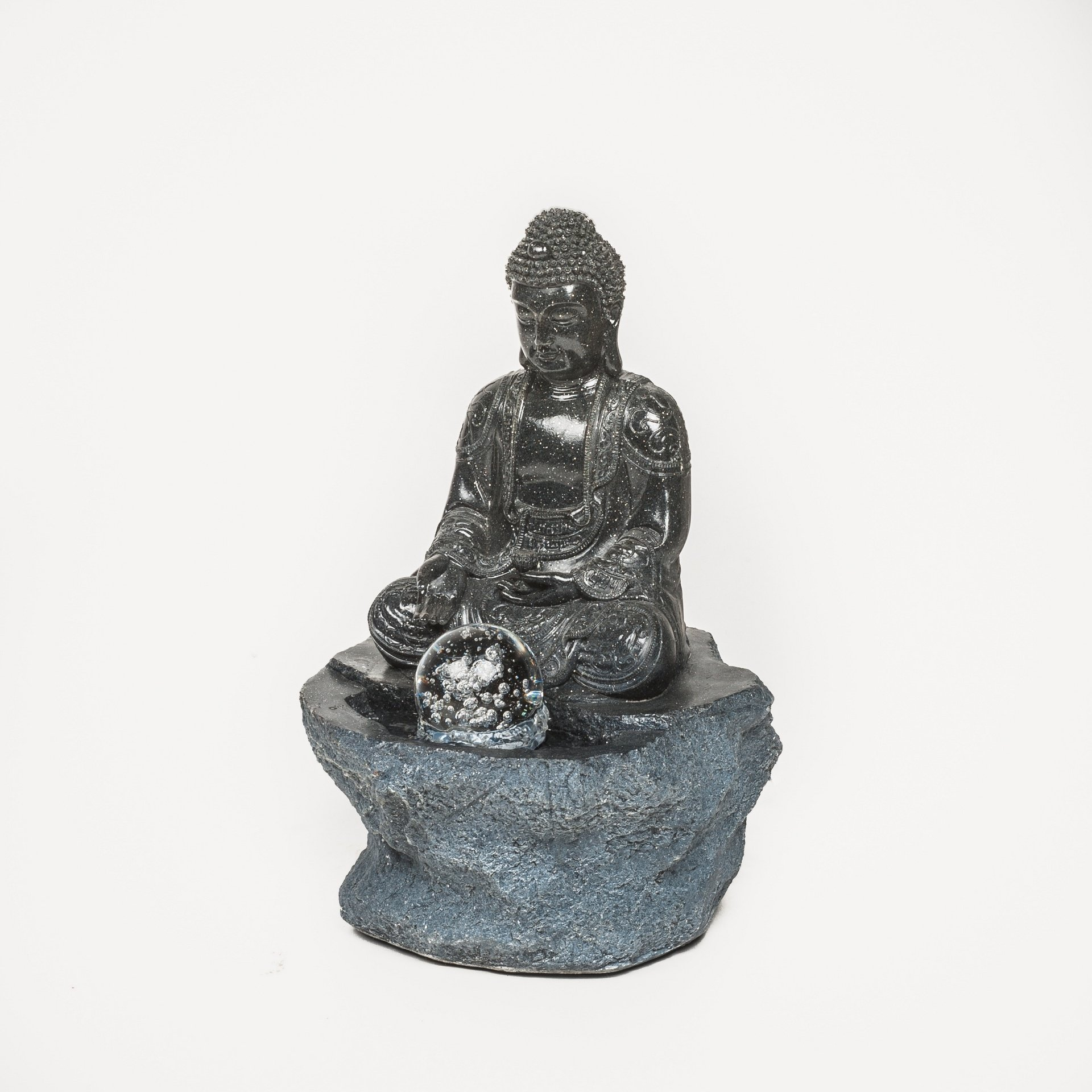 Small Black Buddha with Ball DW10105-1