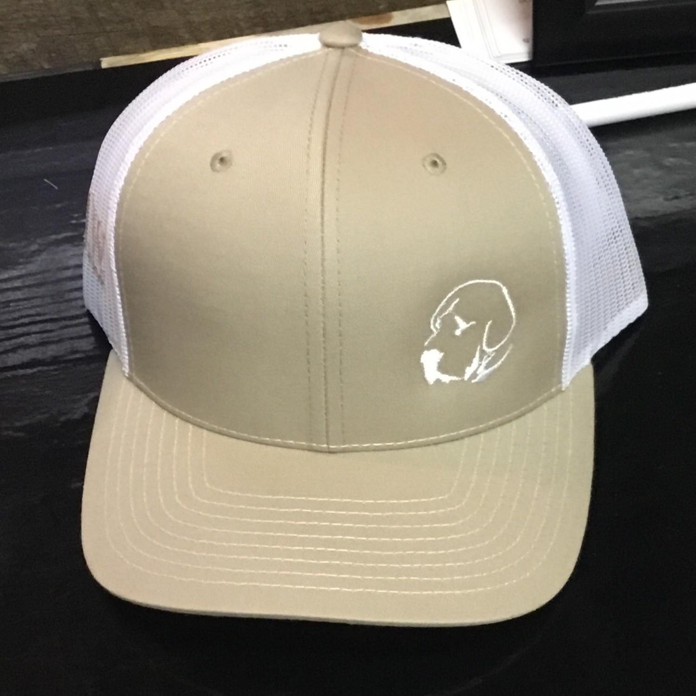 Small Lab Khaki/white (Trucker)