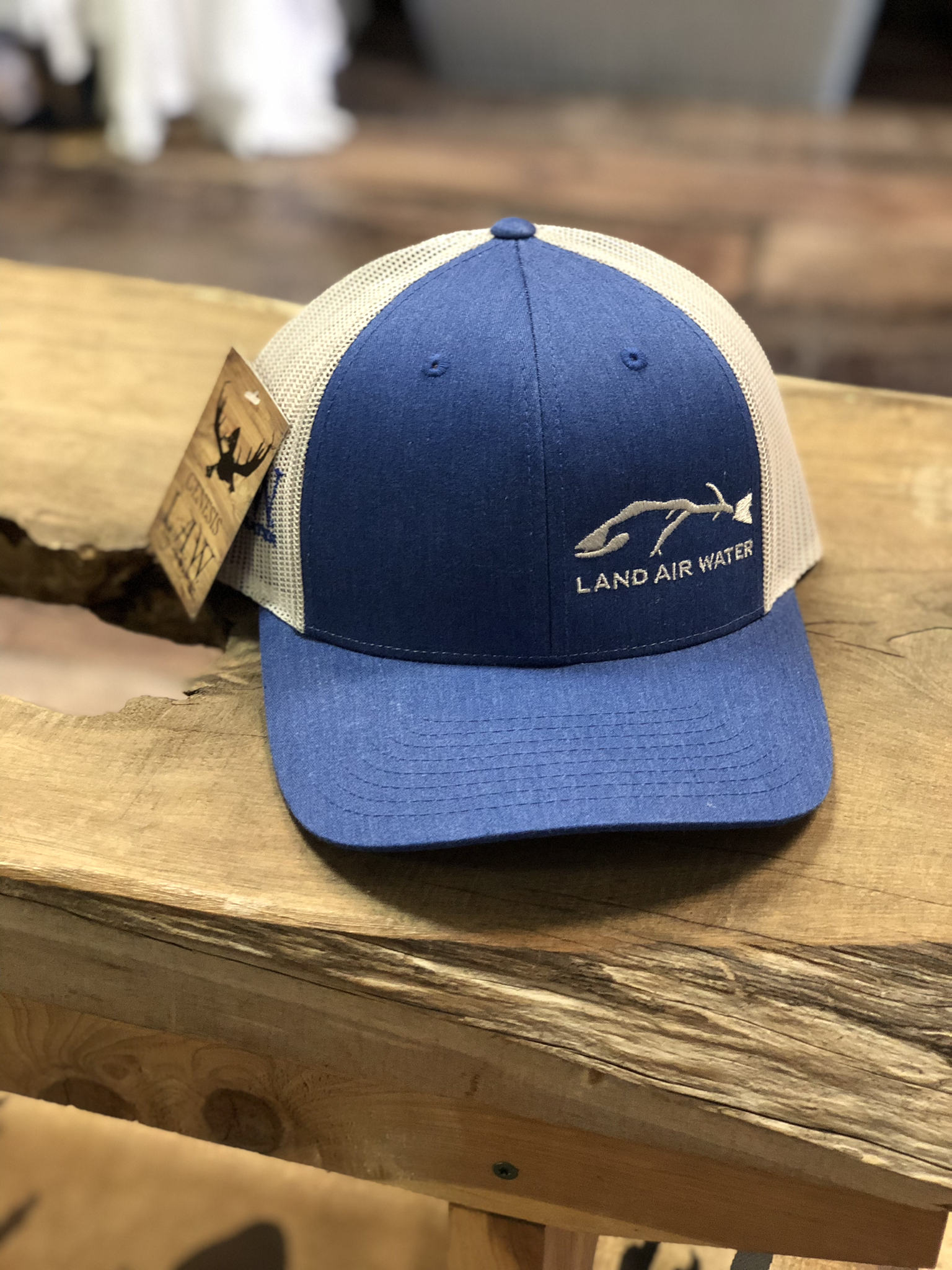 Fish- Blue Jean/grey (trucker)