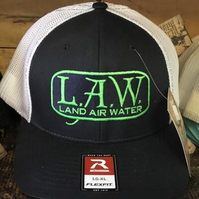 LAW Flexfit Black/White (trucker)