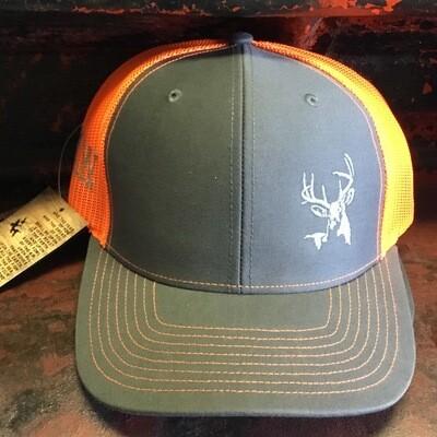 Deer Side Grey/neon Orange (trucker)