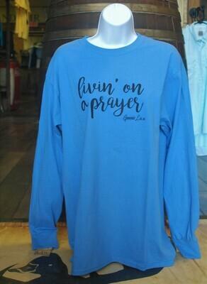 Raglan Long Sleeve Livin' On A Prayer (Blue)