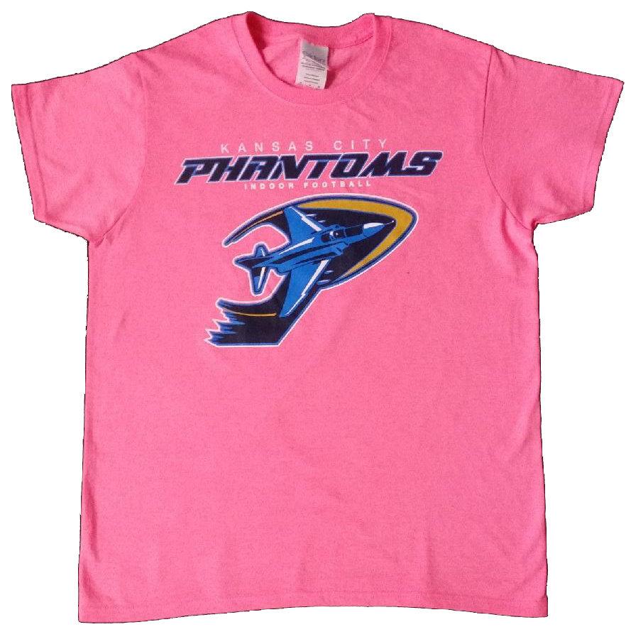 Phantoms Full LOGO Ladies Pink T-shirt