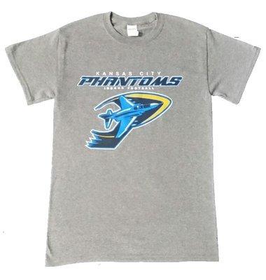 Phantoms Full LOGO Gray T-shirt