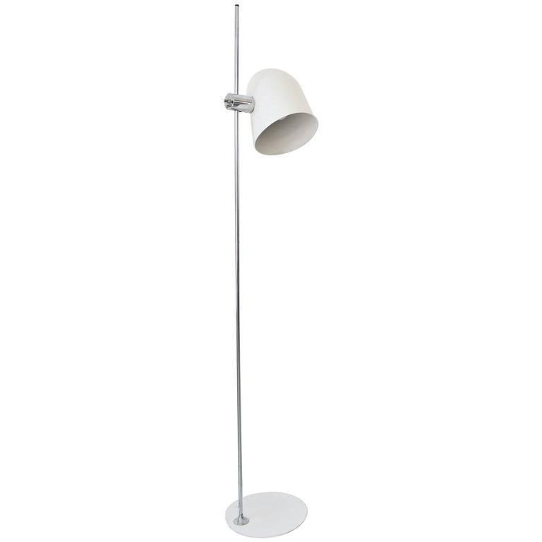 Enamel standing floor lamp by robert sonneman circa 1970 white enamel standing floor lamp by robert sonneman circa 1970 aloadofball Images
