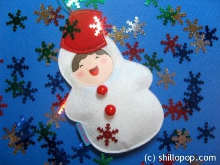 Снеговичок с фотографией малыша