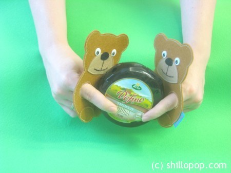 Медвежонок - пальчиковая игрушка