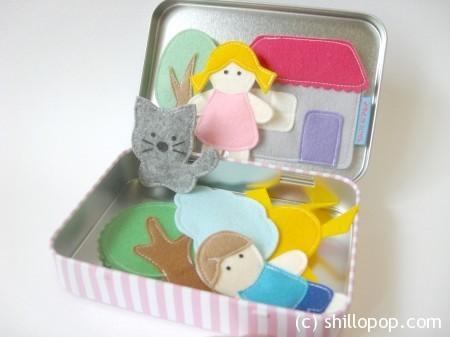 Магнитные игрушки из фетра - сказка в коробочке