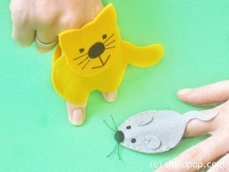 Мастер-класс Пальчиковые игрушки Кошки-мышки