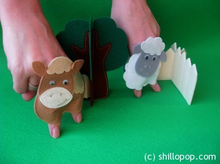 Ферма - шагающие пальчиковые игрушки