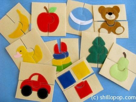 Пазлы из фетра для малышей