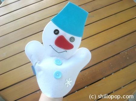 Снеговик - перчаточная кукла
