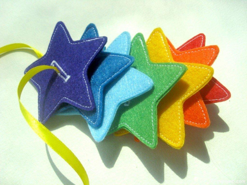 Звезды пуговичный тренажёр