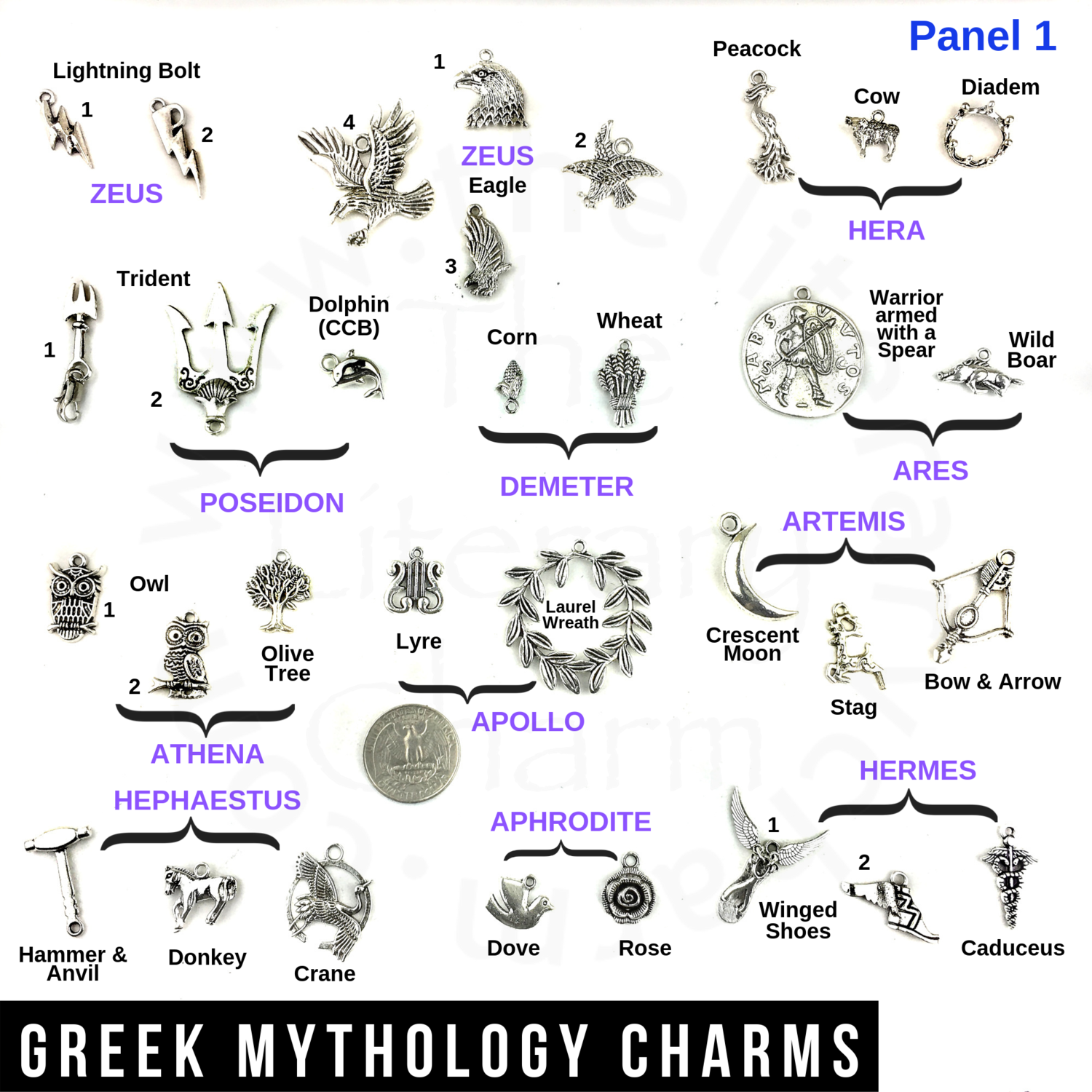 Greek Mythology Charms Greek Gods Goddesses Symbols Greek Demigods Titans Heroes Olympus Statues Pewter Pendants Costume Jewelry Party
