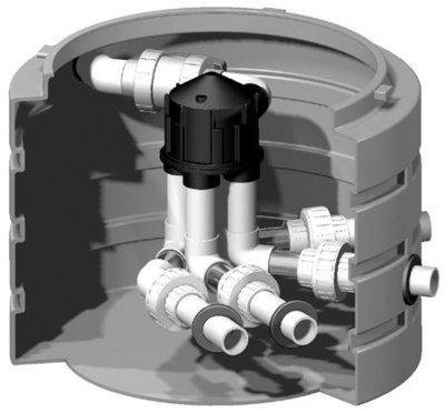 Pre-Assembled 6000 Series K-Rain Valve W/4 Outlets + 4 Cams