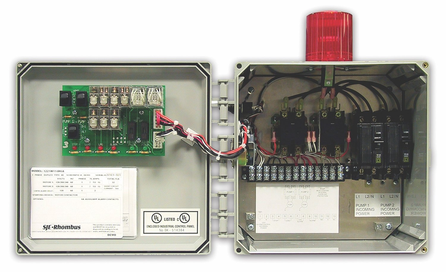 MODEL 122 SINGLE PHASE DUPLEX
