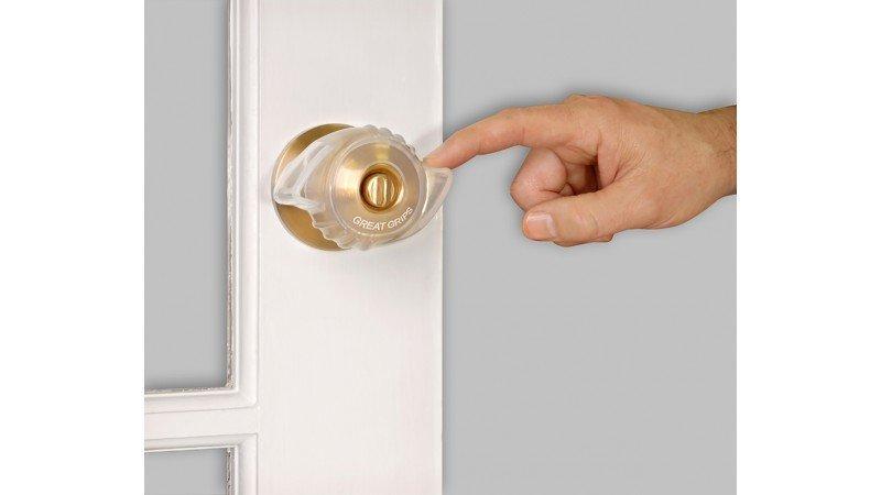 Great Grips   Silicone Door Knob Cover    Ergonomic Door Knob Grip   2 pack