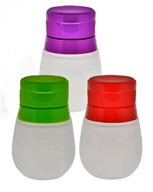 Silicone Condiment Containers | Squeeze Bottle | Flexible | Easy | Set of 3