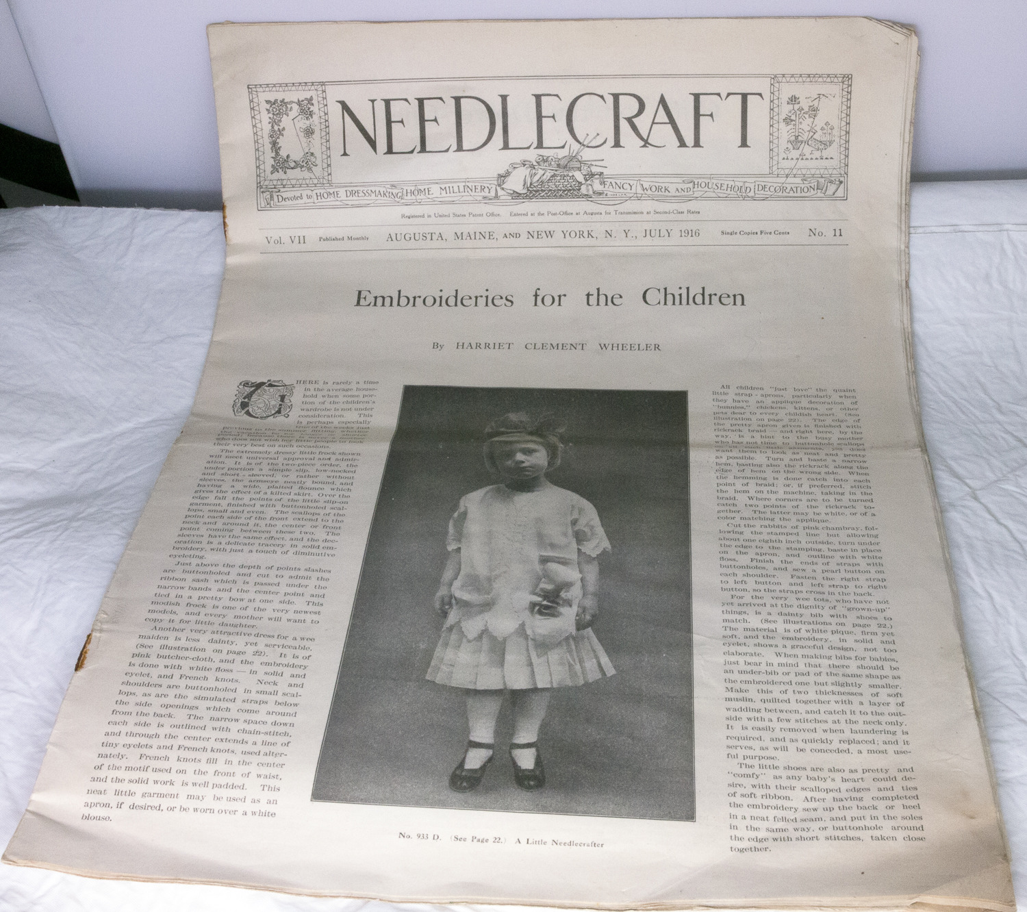 1916 Issue Of Needlecraft Magazine