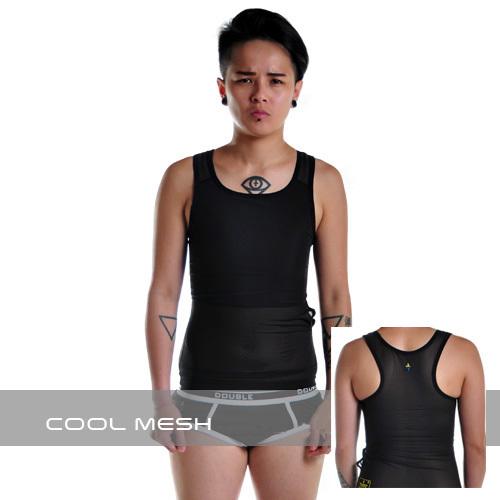 Cool Mesh 透氣網布黏貼全身束胸