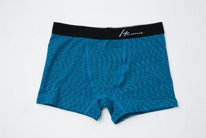 優質平口內褲-深海藍