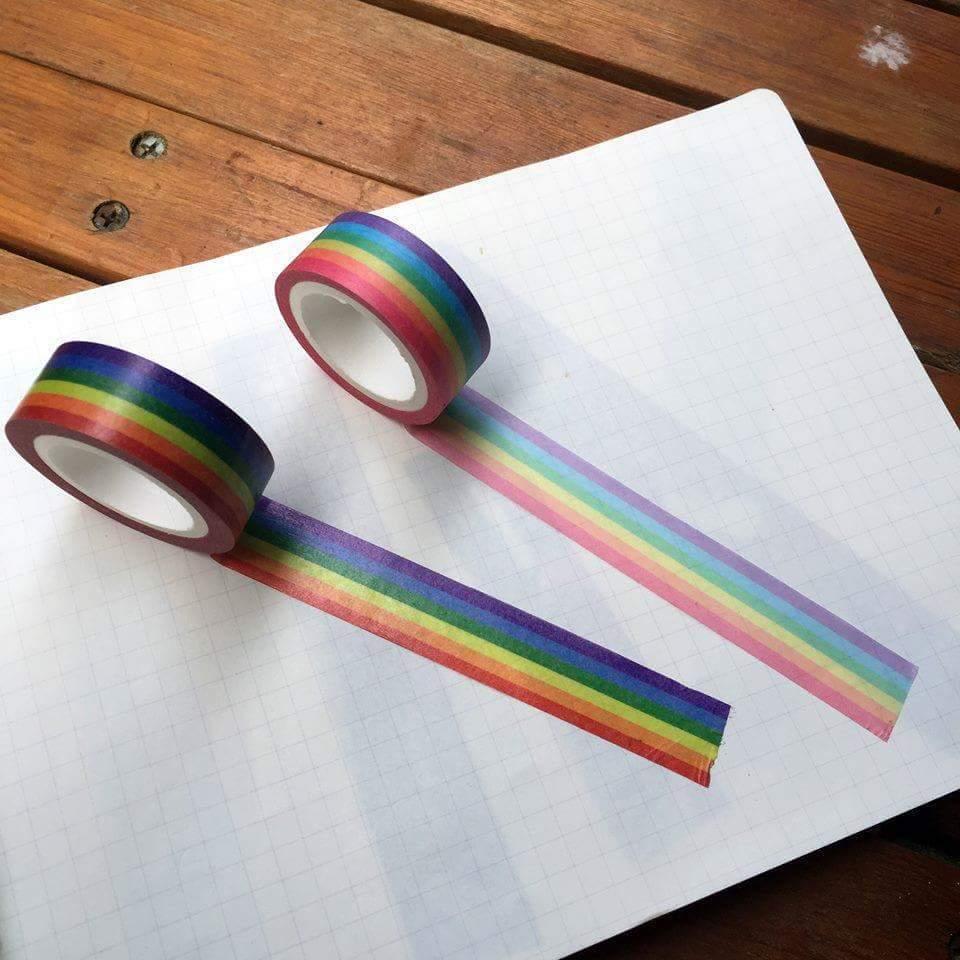 六色彩虹紙膠帶