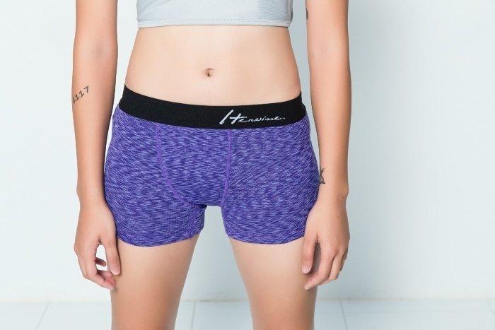 優質平口內褲-淺葡萄紫