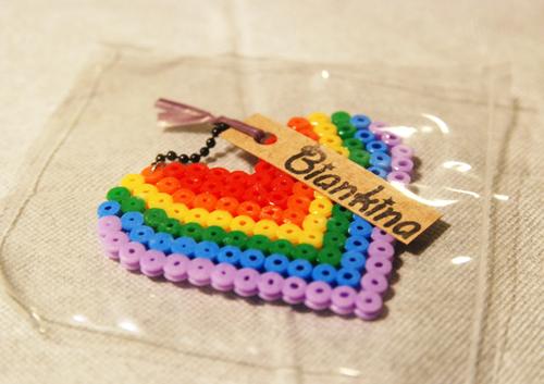 彩虹愛心Heart鑰匙圈