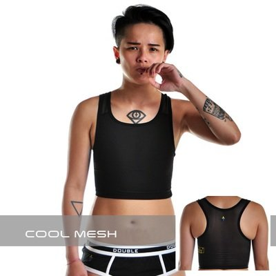 Cool Mesh Velcro Short Chest Binder