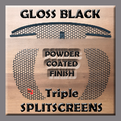 Triple SPLITSCREENS - Gloss Black