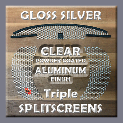 Triple SPLITSCREENS - Gloss Silver