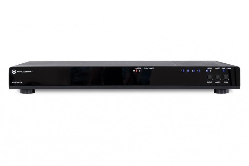 Усилитель-распределитель HD-сигнала по витой паре AT-HDCAT-4 с приёмниками AT-HDRX (4 шт.)