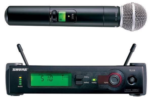 SHURE SLX24E/58 L4E профессиональная двухантенная `вокальная` радиосистема