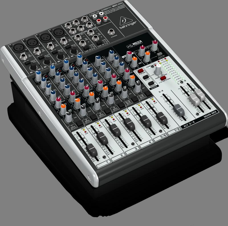 Behringer 1204USB аналоговый микшер, 10 каналов