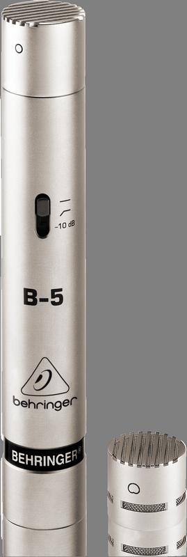 Behringer B-5 студийный микрофон со сменными конденс. капсюлями (кардиоида/круговая)