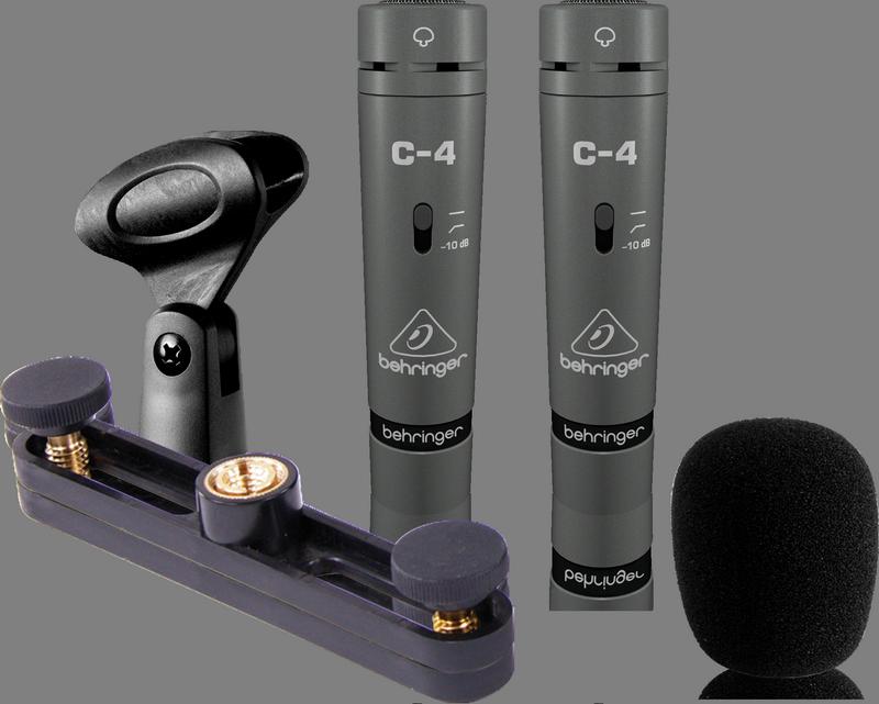 Behringer C-4 подобранная пара кардиоидных конденсаторных микрофонов