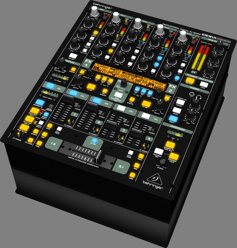 Behringer DDM4000 цифровой DJ-микшер с сэмплером, 5 каналов (4 стерео+ микр.)