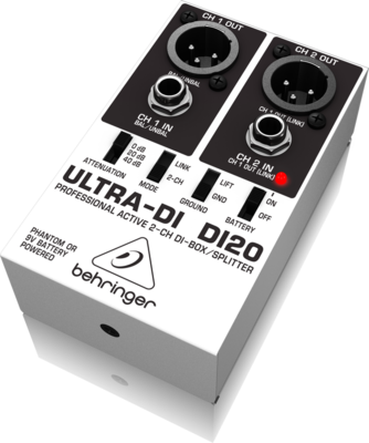 Behringer DI20 2-канальный активный DI-box/ сплиттер