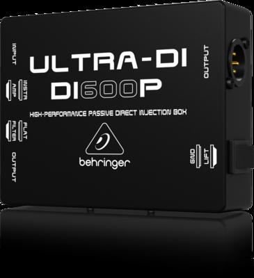 Behringer DI600P Пассивный DI-box с согласованием импеданса для прямого подключения инструментов/ выходов усилителей к м