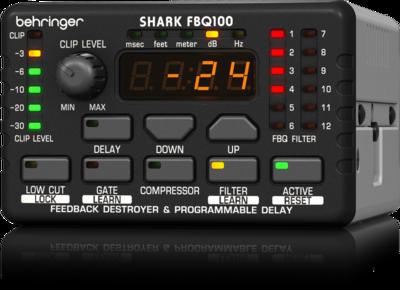 Behringer FBQ100 подавитель обратной связи, 8 FBQ-фильтров, микрофонный предусилитель, задержка, noise gate, компрессор