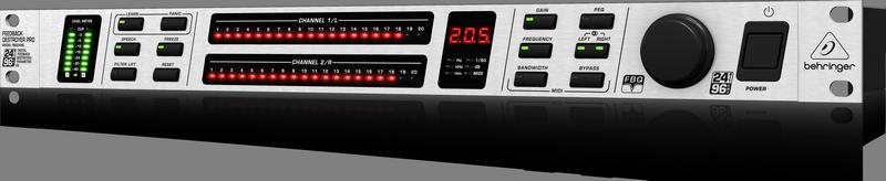 Behringer FBQ2496 подавитель обратной связи, 20 FBQ-фильтров на канал, 96 кГц
