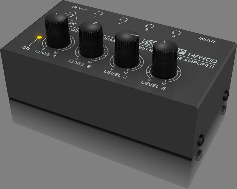Behringer HA400 миниатюрный 4-канальный усилитель для стереонаушников