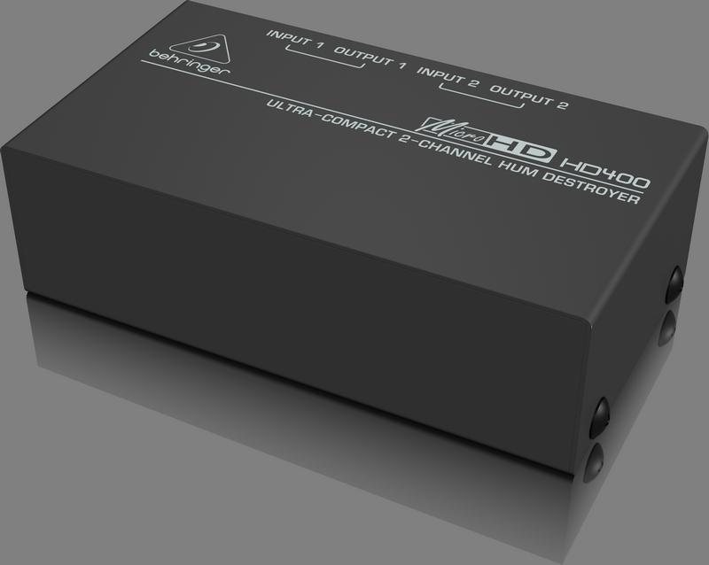 Behringer HD400 2-канальный подавитель сетевого фона и шумов/ пассивный DI-box