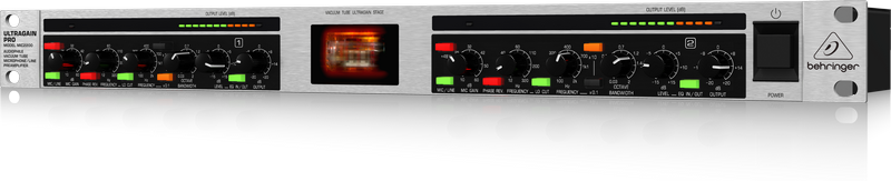 Behringer MIC2200 2-канальный ламповый микрофонный предусилитель